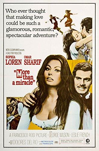 MORE THAN A MIRACLE original 1967 27x41 one sheet movie poster SOPHIA LOREN/OMAR -