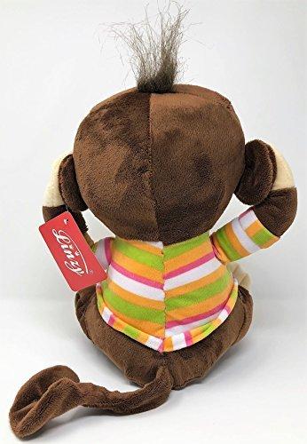 "Linzy Toys 12.5/"" Soft Plush Monkey Stuffed Animal SEE NO EVIL GIRL MONKEY"