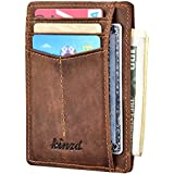 Slim Wallet RFID Front Pocket Wallet Minimalist Secure Thin Credit Card Holder (One Size, Victor Crazy Horse)
