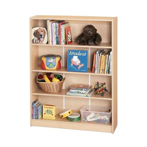 Jonti-Craft MapleWave Kydz Bookcase w 4 Adjustable Shelves (48 in. H)
