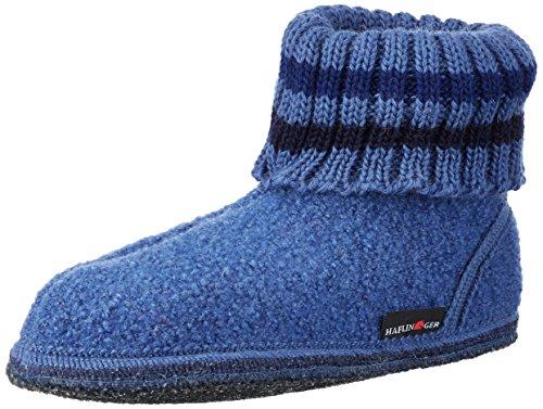 Haflinger Unisex-Erwachsene Hüttenschuh Paul Hohe Hausschuhe Blau (Royal)