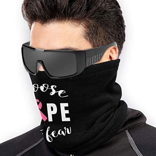 Choose Hope Not Fear ネックカバー 男女兼用 バンダナ 息苦しくない フェイスガード 多機能 日よけ サイクリングカバー
