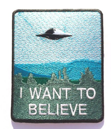 I Want To Believe Patch Embroidered Iron / Sew on Badge The X-Files Movie Poster Costume Souvenir Applique - New Costume Cyclops
