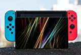 Colorful Design Bright Colors Lines Design Nintendo Switch Dock Vinyl Decal Sticker Skin by Moonlight Printing