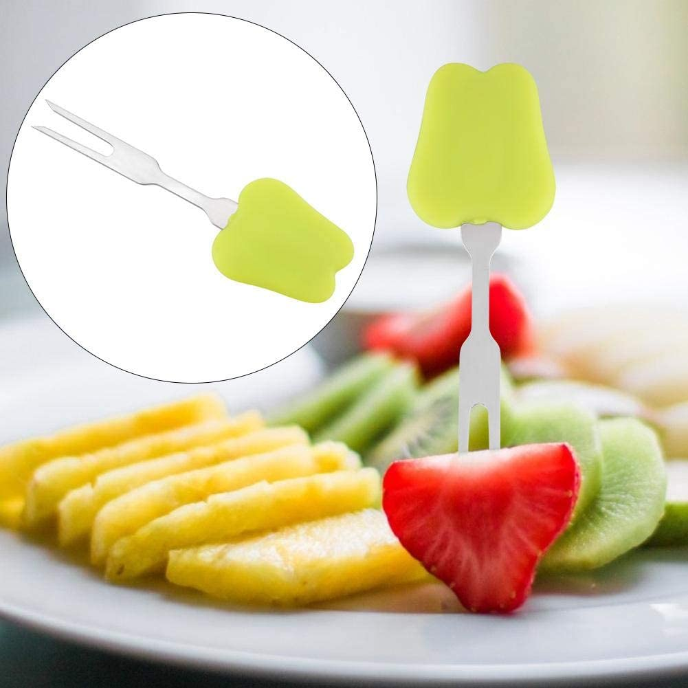 Fourchettes de barbecue -Fourchette en acier inoxydable Barbecue Brochettes de barbecue Cuisine maison Collations aux fruits 2Pcs(vert) Vert