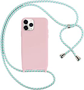 Peacocktion iPhone 11 Pro Max Case Crossbody with Strap, iPhone 11 Pro Max Lanyard Neck Holder - Phone Necklace Case Cover for iPhone 11 ProMax 6.5 inch (Pink)