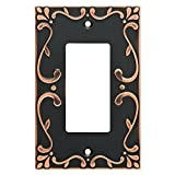Franklin Brass W35072-VBC-C Classic Lace Single Decorator Wall Plate/Switch Plate/Cover with Copper Highlights, Bronze