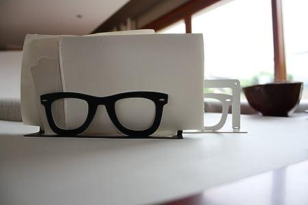 Jardín Cosas Diario prioridad Gafas Forma sobre Soporte, Acero, Negro, 2,5 x 19 x 11 cm: Amazon.es: Hogar
