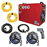 Bed Bug Heater System, Heat Treatment to Get Rid of All Bed Bugs in 6-8 Hours, Removes All Bed Bugs in Small Home or Apartment (up to 800 sqft) BK-17