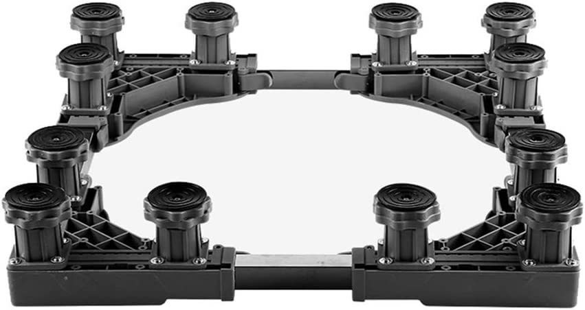 Furniture Heavy Duty Washing Machine Base,8 Strong Feet Raised Base Adjustable Multi-Functional Stand Refrigerator Holder Bracket For Tumble Dryers Cookers Fridges Freezers(12Legs)