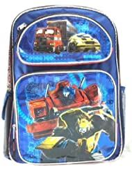 Transformer Optimus Prime & Bumble BeeBoys 16 Canvas Blue Backpack