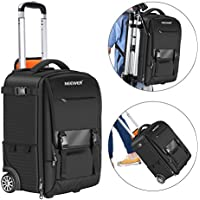 Neewer 2-in-1 Rolling Camera Backpack Trolley Case,...