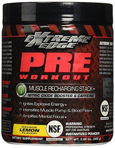 BlueBonnet Extreme Edge Pre Workout Powder, Savage Lemon, 0.