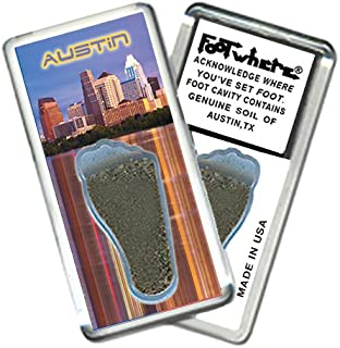 "product image for Austin ""FootWhere"" Souvenir Fridge Magnet. Made in USA (AU202 - PM Skyline)"