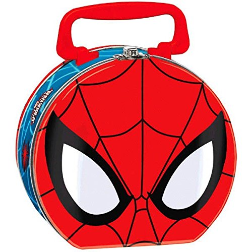 Ultimate Spider-Man Birthday Party Lunch Tin Box Favour, Metal , 5