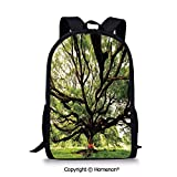 design School Backpack Back to School(17.3') The Largest Monkey Pod Tree in Thail