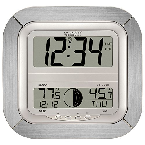La Crosse Technology WS-8418AL-IT Atomic Digital Wall Clo...