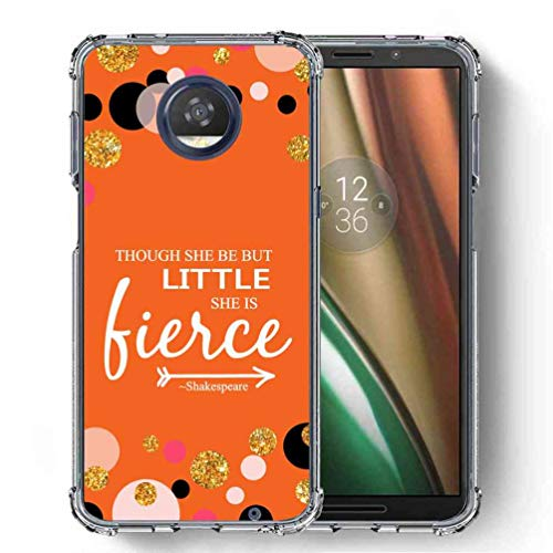 for Motorola Moto Z3 Play Case, SuperbBeast Ultra Slim Thin Protective Case w/Reinforced Corners Vector Floral Flowers Polka Dots [Glitter Pattern]