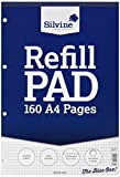Silvine Refill Pad Headbound Perforated Punched Quadrille Squared 5mm 75gsm A4 Ref A4RPX [Pack of 6]