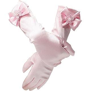 cdbfcfe3ddcb2 ノーブランド 女の子 子供 手袋 フォーマル手袋 ウェディング 発表会 演奏会 可愛い 蝶結び ロング グローブ