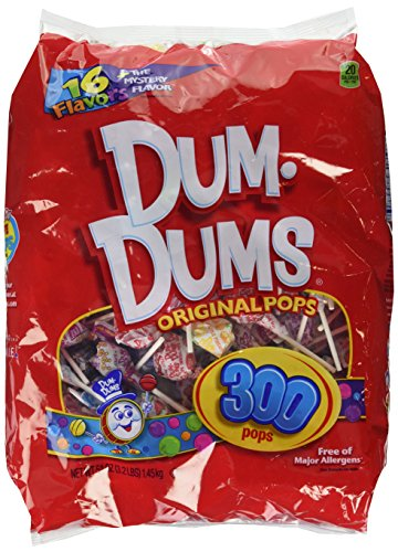 DUM DUMS Lollipops, Variety Flavor Mix, 300 Count -