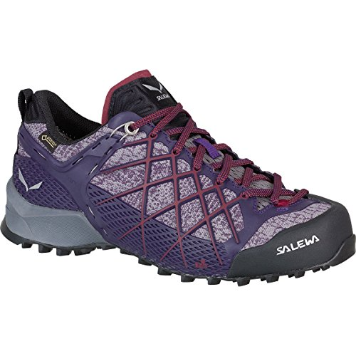 Salewa WS Wildfire GTX, Chaussures de Randonnée Basses Femme, Black-Purple, UK 4,5 Black / Purple