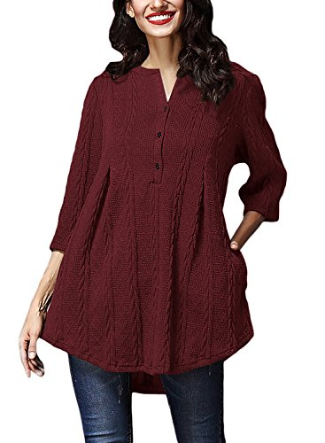 V-neck Knit Tunic - 8