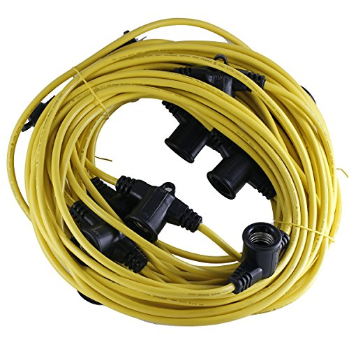 Build Zone Construction string lights yellow guard 100 foot (Construction String Lights)