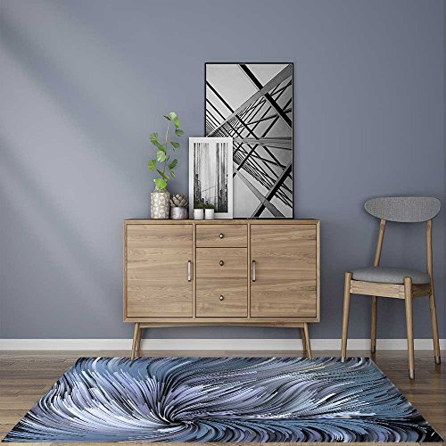 Home Area Rug Dynamic Color series Backdrop of Colorful fractal clouds and graphic elements for living roomW59 x L71 INCH