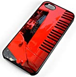 iPhone Case Fits iPhone 7 Farmall Red Tractor Grill Black Rubber