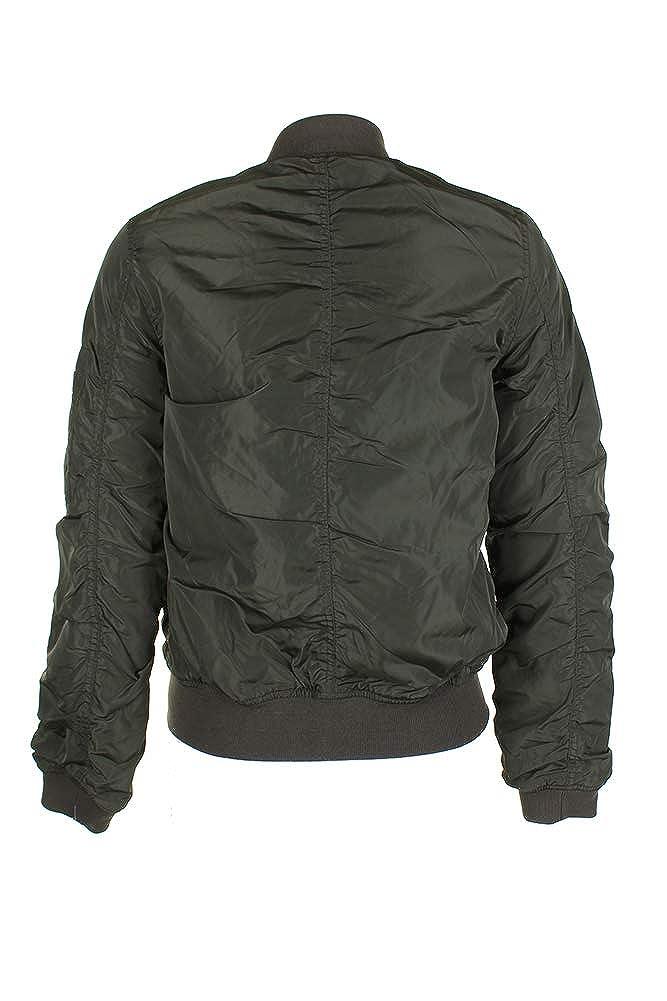 326785d33 Amazon.com: American Rag Juniors Olive Ruched-Back Bomber Jacket M ...