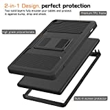 MoKo Case for Fire HD 8 2016 Tablet - [Heavy Duty] Full Body Rugged Cover with Built-in Screen Protector for Amazon Fire HD 8 (Previous 6th Generation - 2016 Release ONLY), BLACK