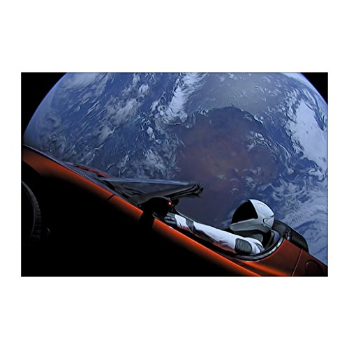 Shop Shop USA Spacex Starman In Orbit Around The Earth Poste