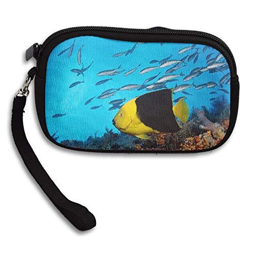 WCVRUT Unisex Clutch Wallet For Woman Ladies -Underwater Sea World Long Purse Bag Men Gentlemen by WCVRUT
