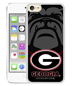 Newest iPod Touch 6 Case ,Popular And Beautiful Designed Case With Southeastern Conference SEC Football Georgia Bulldogs 2 white iPod Touch 6 Screen Cover High Quality Phone Case