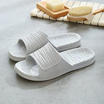 Antideslizante zapatillas de baño minimalista japonés parejas permanezca fresco zapatillas verano indoor antideslizante zapatillas de baño hombres y damas ...