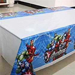 "CharmTM Set of 2 Superhero Tablecloths AV Party Tablecloths Plastic 42"" X 70"" Party Decorations and Supplies"