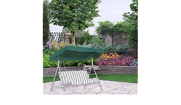 biteatey Toldo De Columpio - Toldo De Repuesto para Columpio De Jardín De 3 Plazas | Cubierta Superior De Hamaca Resistente Al Agua para Patio De Jardín Al Aire Libre (249 X