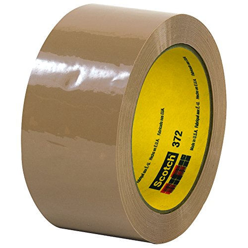 Scotch T901372T6PK Tan #372 Carton Sealing Tape, 2