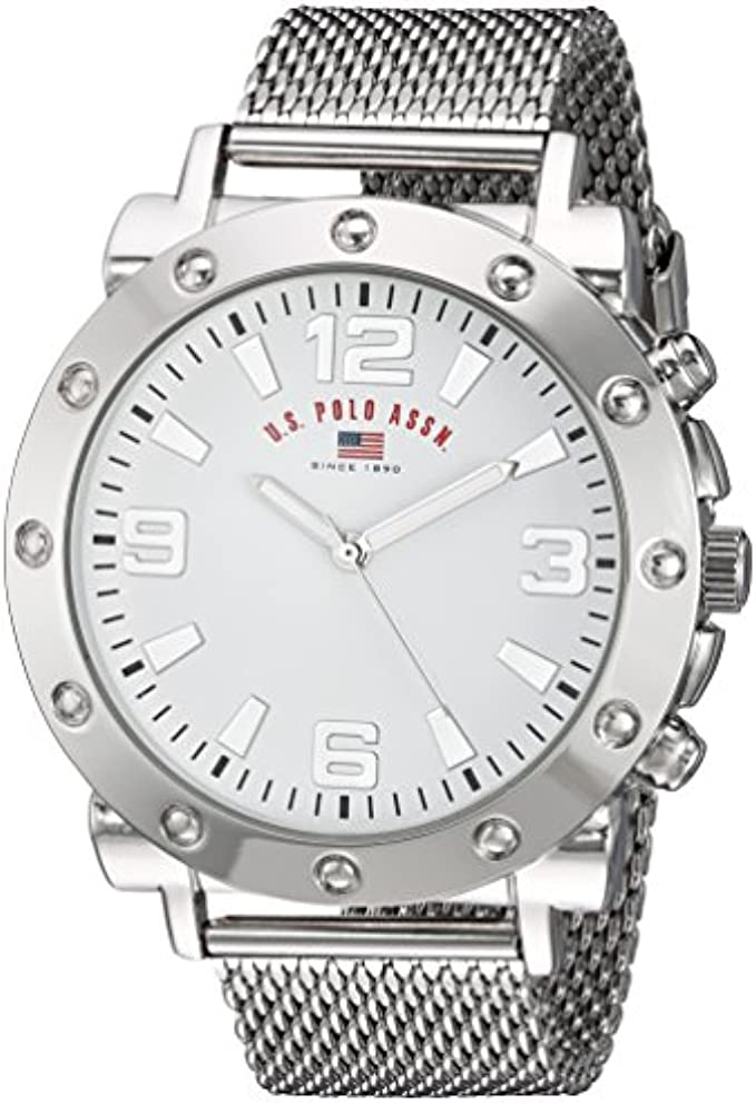 U.S. Polo Assn. Men's Quartz Metal and Alloy Casual Watch, Color:Silver-Toned (Model: US8815)