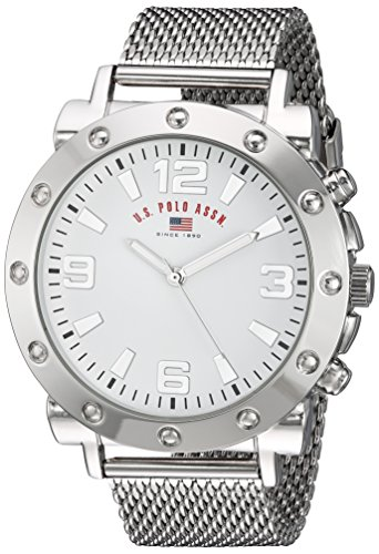 U.S. Polo Assn. Men's Quartz Metal and Alloy Casual Watch, Color:Silver-Toned (Model: US8815)