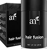 Art Naturals Hair Fusion - Hair Building Fibers 25 Grams to fill Thinning, Sparse or Balding Areas - Made of natural, colored Keratin Fibers that blend undetectable into existing hair ...