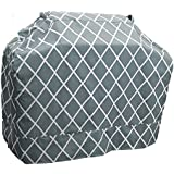 Great Bay Home Grill Cover Heavy-Duty, Waterproof Premium BBQ Gas Grill Cover for Medium Grills of All Brands. (Silver Blue)