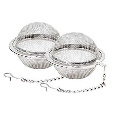 Stainless Steel Mesh Tea Ball 2.1 Inch Tea Infuser Strainers Tea Strainer Filters Tea Interval Diffuser