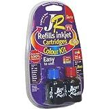 JR Inkjet Printer Ink Cartridge Refill Kit   Colour MultiPack   3 x 30ml