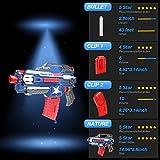 Blaster Gun for N-Strike,Newisland Foam Dart Gun with 10pcs Elite Bullets and Double Clips for Outdoor Series Elite War