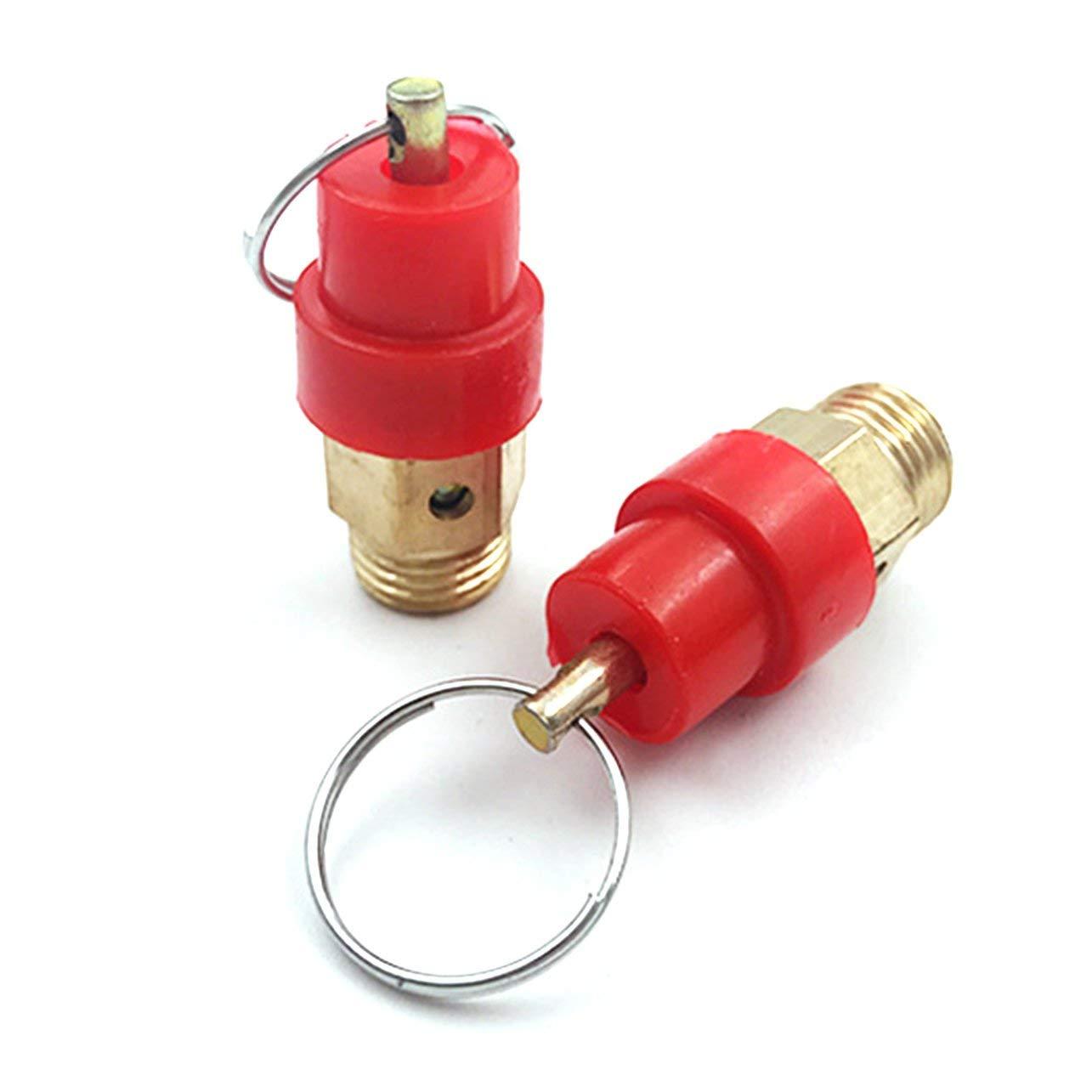 Heaviesk 1//4 8 KG Compresor de Aire V/álvula de liberaci/ón de Seguridad Regulador de Alivio de presi/ón V/álvula de Escape para m/áquina de Espuma M/áquina de Suministro de Agua