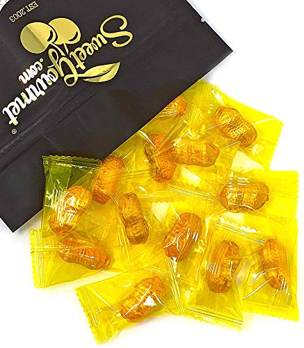 Wrapped Filled Peanuts - Gourmet Hard Candies - Honey Combed Peanuts, Kosher, Gluten Free, Vegan Friendly (2LB)