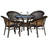 Best Selling 5-Piece Avondale Wicker Dining Set