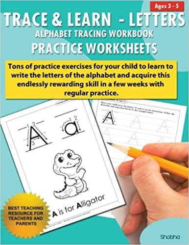 Trace & Learn Letters Alphabet Tracing Workbook Practice ...